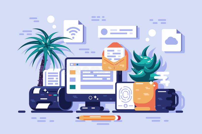 Ways to getting information vector illustration