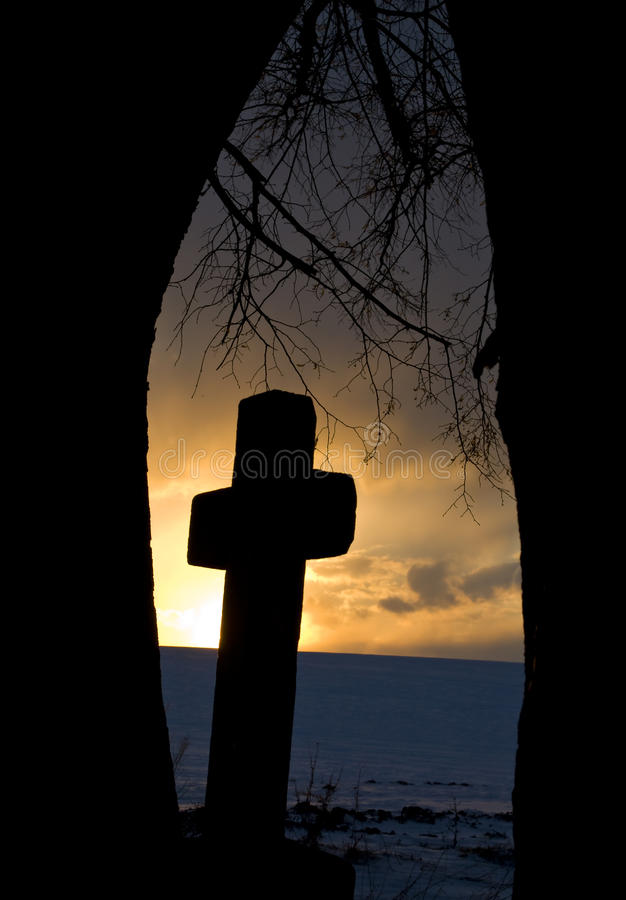 Download Wayside cross stock photo. Image of faith, evening, dramatic - 14861896