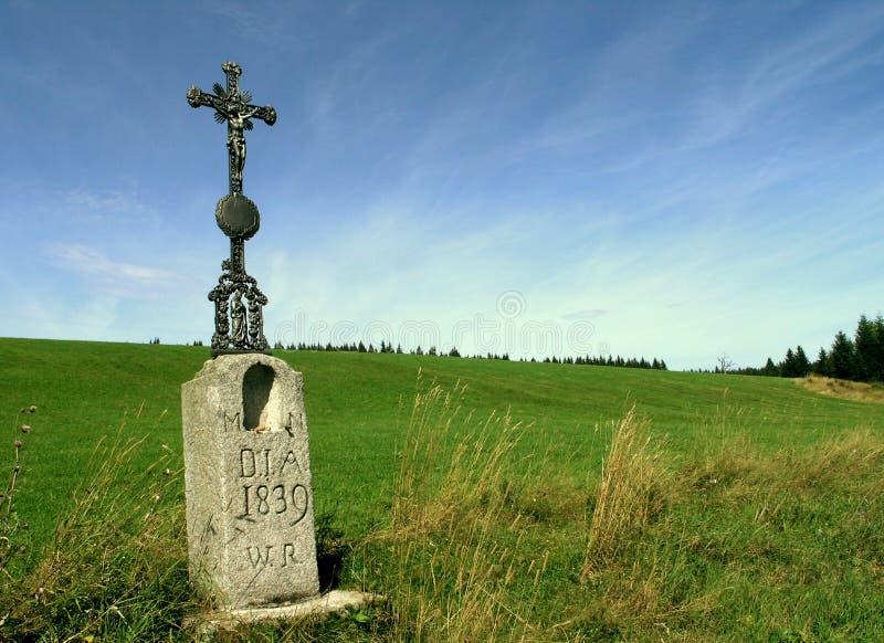 Wayside cross 1839 stock image