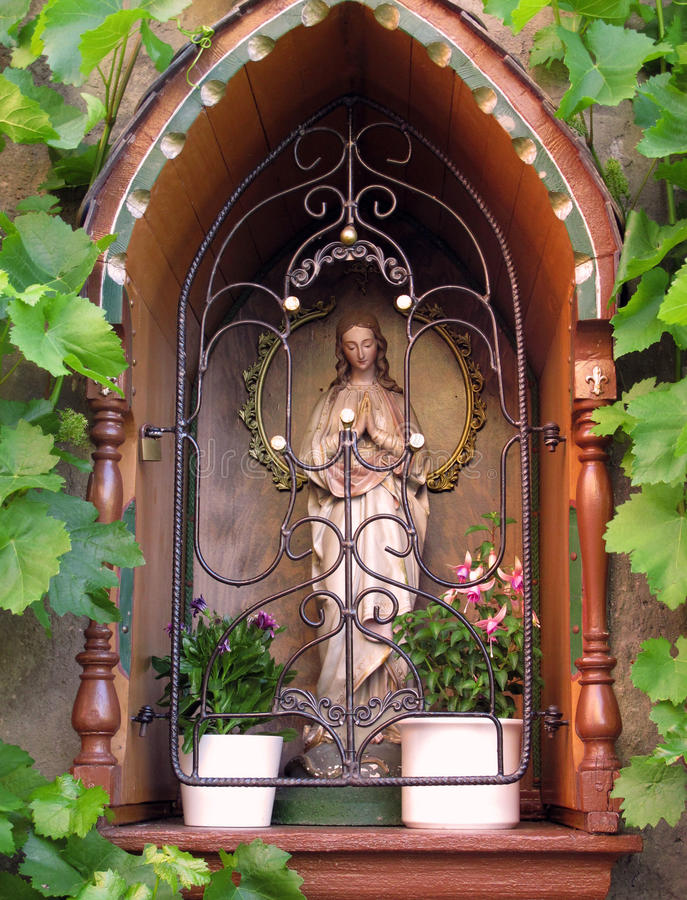 Wayside shrine royalty free stock photography