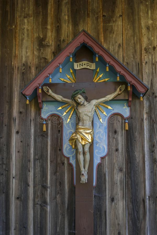Free Wayside Shrine, Crucifix In Bavaria, Germany Stock Images - 104928234