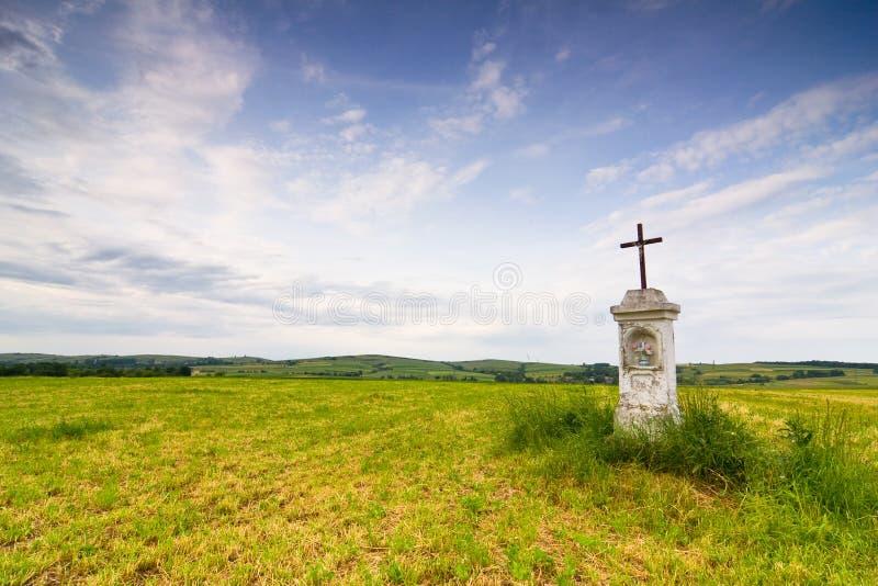 Wayside shrine. South East Poland stock image