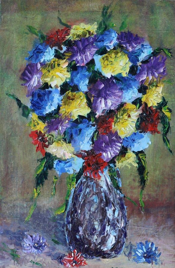 Waza życie kwiaty, wciąż ilustracja wektor