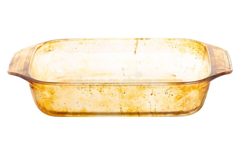 Wazeliniarski otłuszczony brudny szklany naczynie fotografia royalty free
