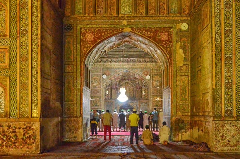 Wazir Khan Masjid, Lahore, Pakistan am 20. Juni 2015 lizenzfreie stockfotos