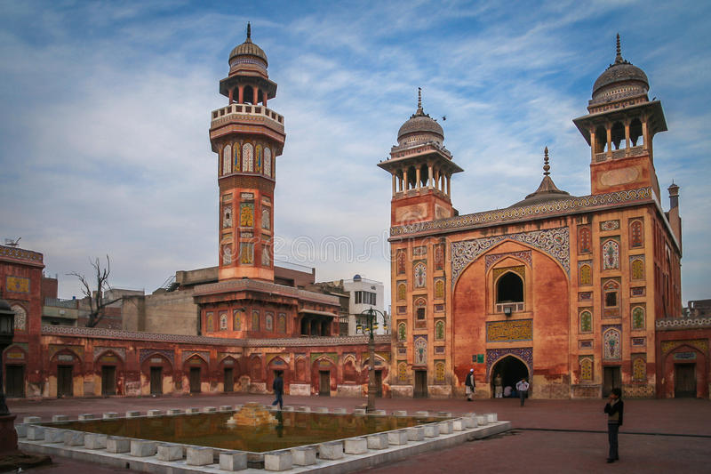 Wazir Khan Mosque Lahore, Pakistan photos stock
