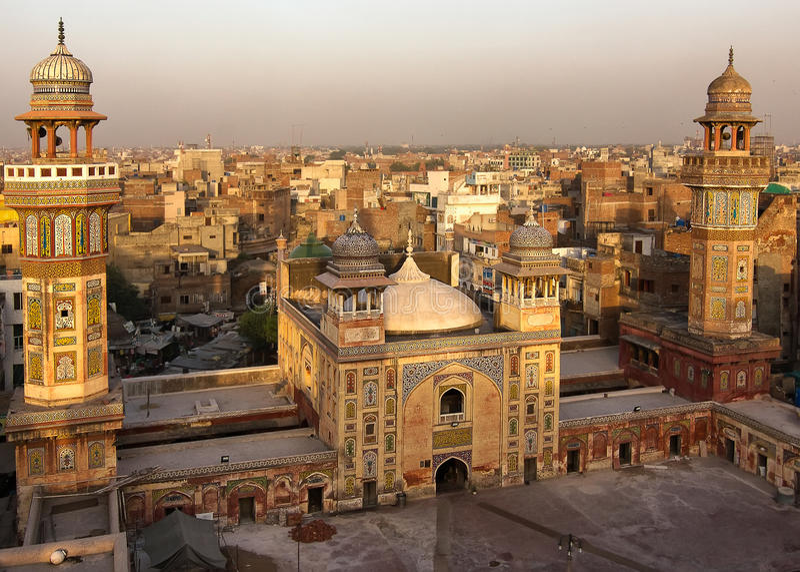 Wazir Khan Mosque, Lahore Paquistán fotos de archivo