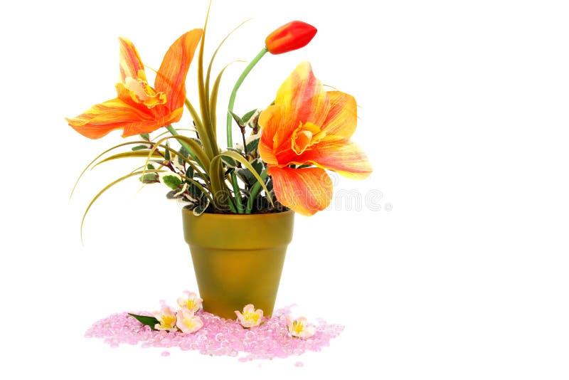 wazowi kwiatów kamienie fotografia stock