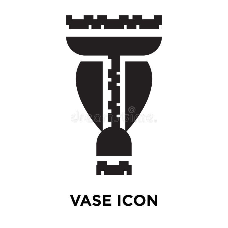 Wazowy ikona wektor odizolowywający na białym tle, loga V pojęcie royalty ilustracja