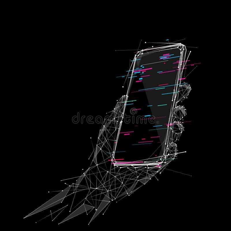 WB polivinílico bajo disponible del teléfono stock de ilustración