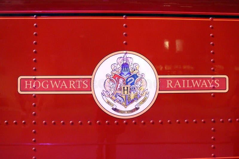 WB Studio's in de filmreeks van Londen - Harry Potter- stock foto