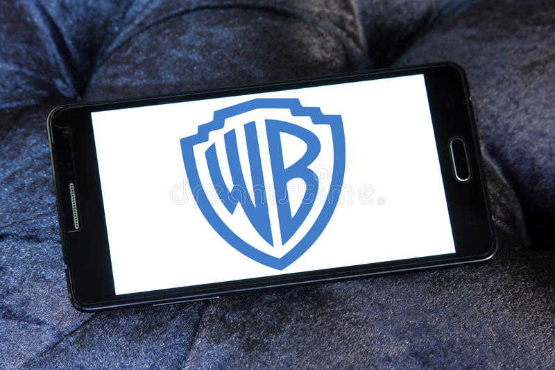 Wb, Warner braci logo zdjęcie stock