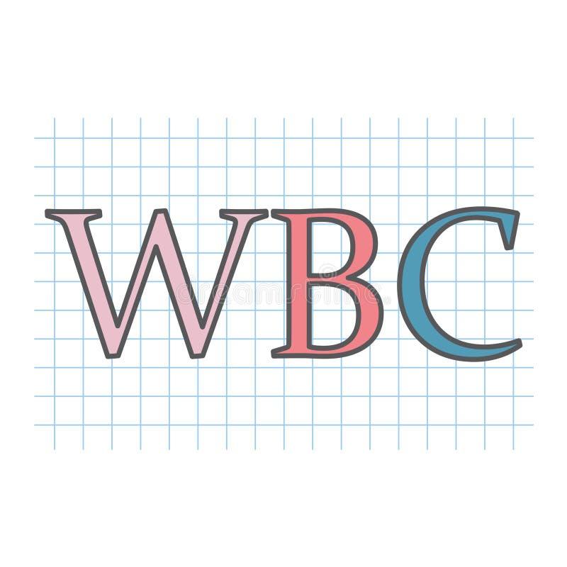 WBC-Leucocytacroniem op geruit document blad royalty-vrije illustratie