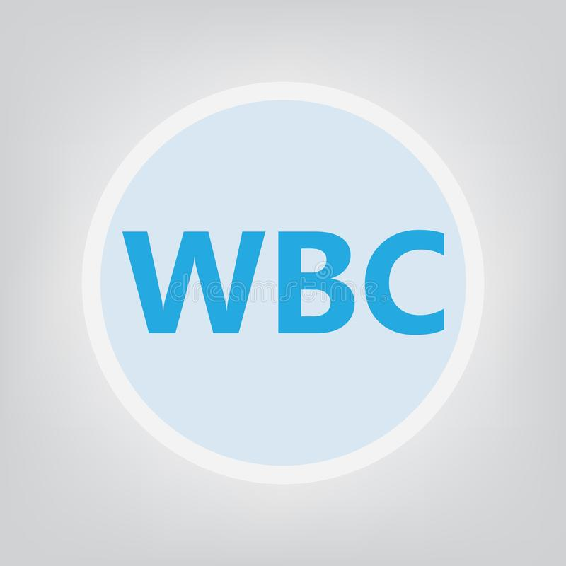 WBC White Blood Cell acronym. Vector illustration royalty free illustration