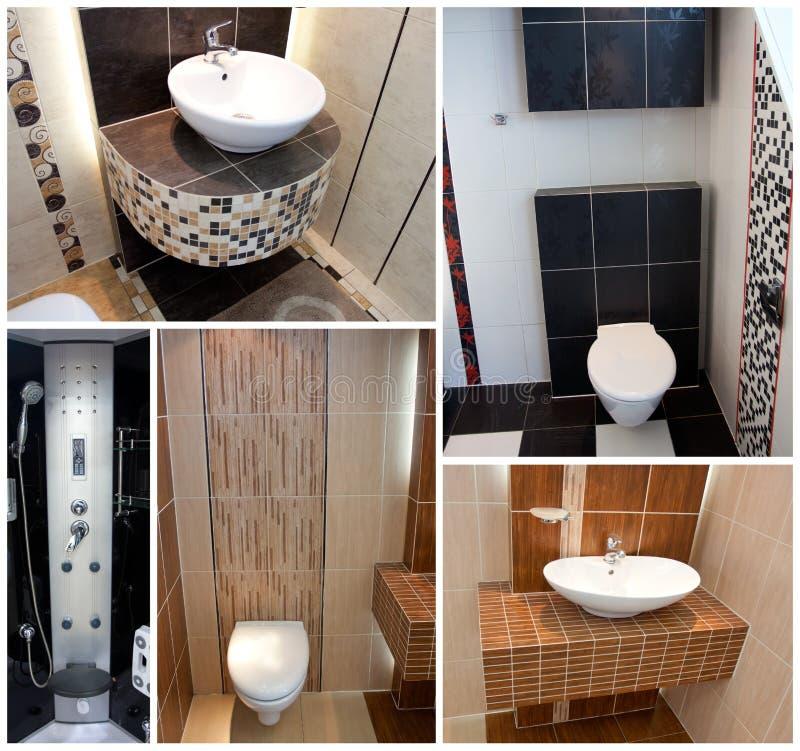 wc туалетов коллажа стоковые изображения rf