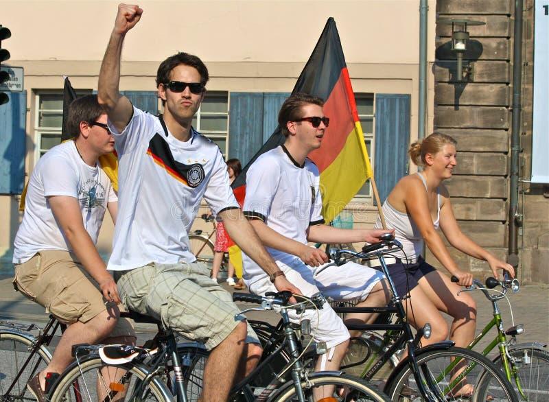 WC 2010 do futebol: Ventiladores alemães   imagem de stock