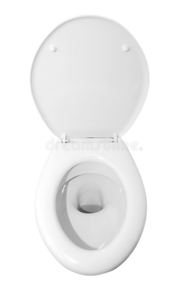 Wc. Isolated on white background royalty free stock image