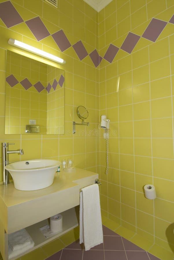 WC - Badkamers Met Spiegel En Pan Koude Kleuren Stock Foto ...