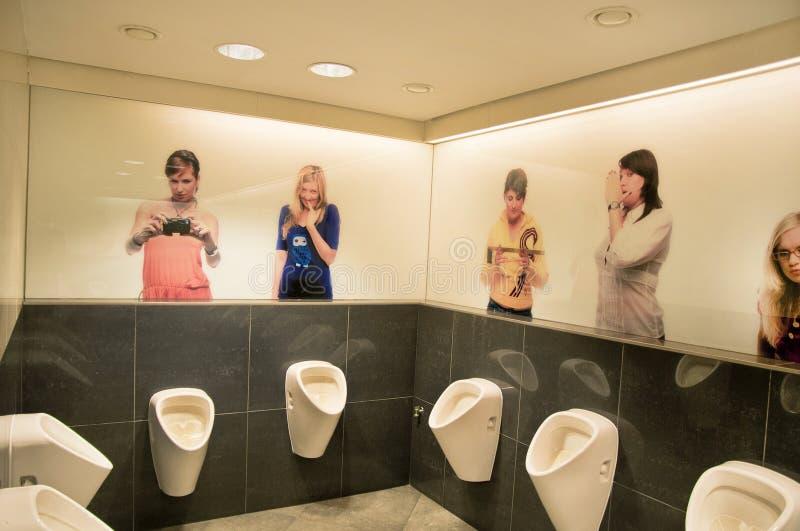 WC con humor fotografía de archivo