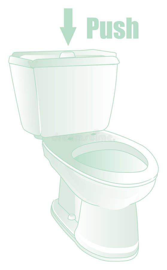 WC con los objetos stock de ilustración