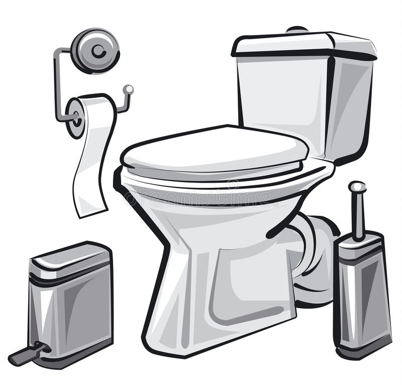 Wc del lavabo con el retrete libre illustration