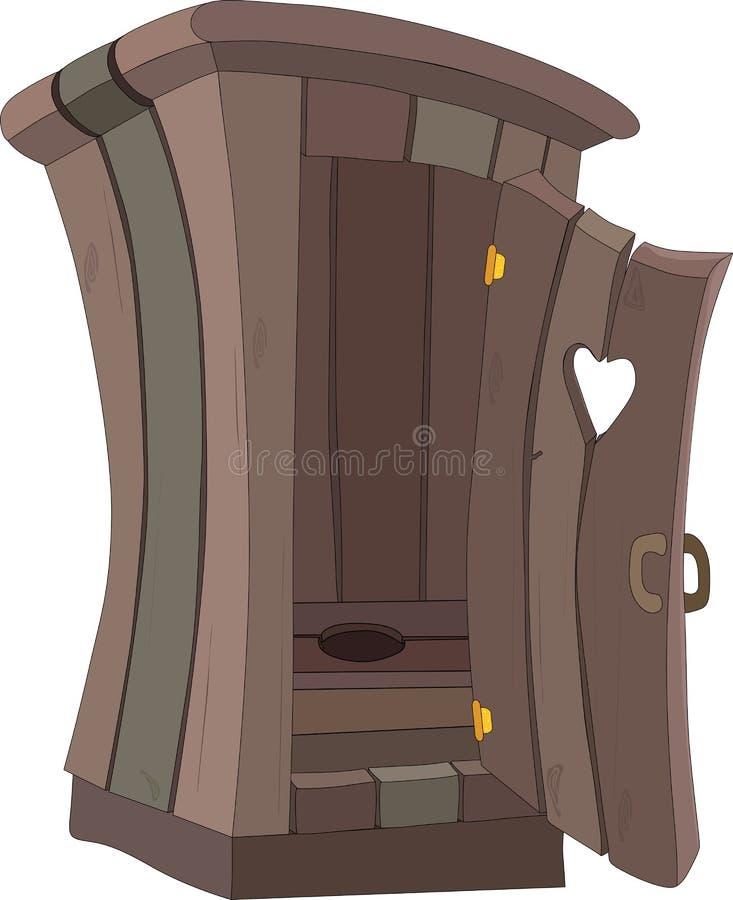 WC del retrete de la historieta ilustración del vector