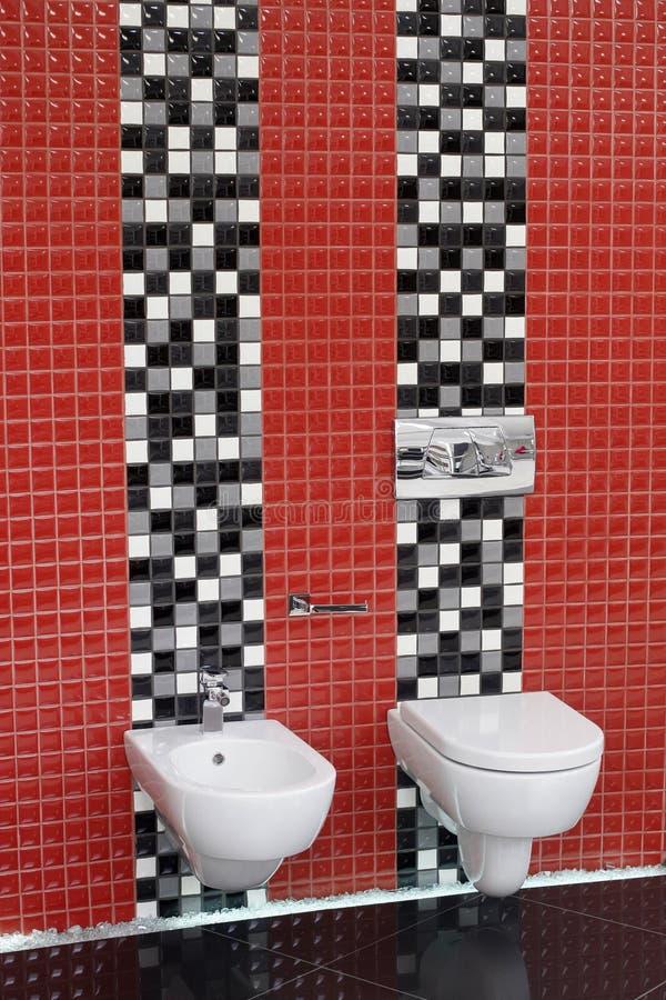 WC do toalete e bidet imagem de stock royalty free