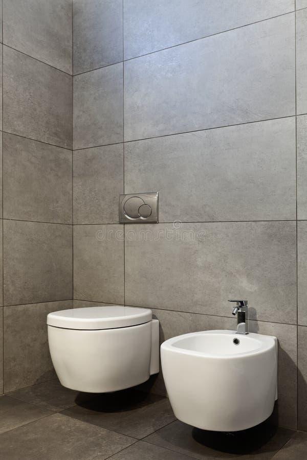 WC en bidet stock afbeelding