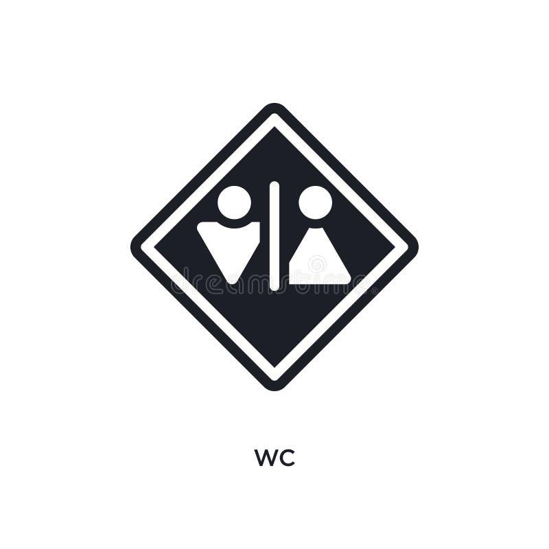 WC geïsoleerd pictogram eenvoudige elementenillustratie van de pictogrammen van het verkeerstekenconcept van het het embleemteken royalty-vrije illustratie