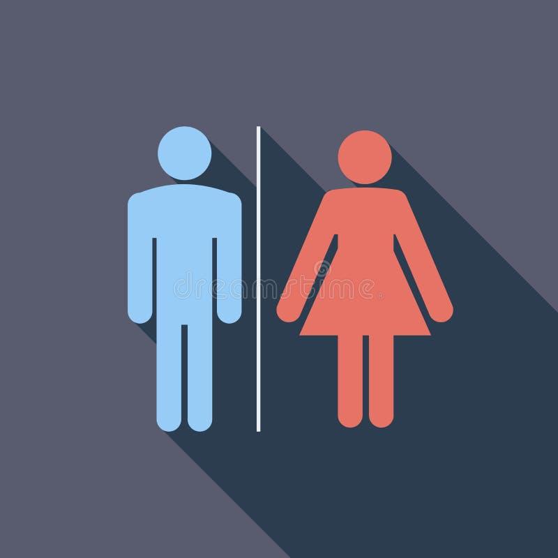 WC kiezen vector vlak pictogram uit vector illustratie