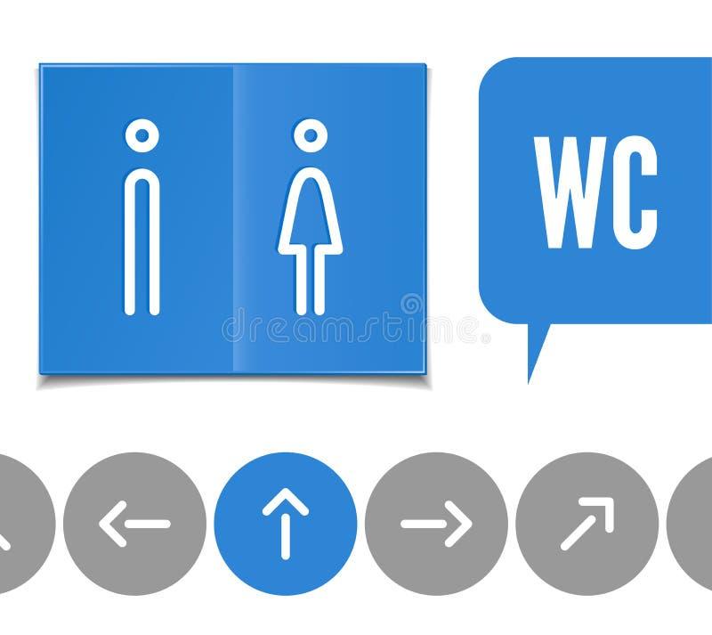 WC- pictogram royalty-vrije illustratie