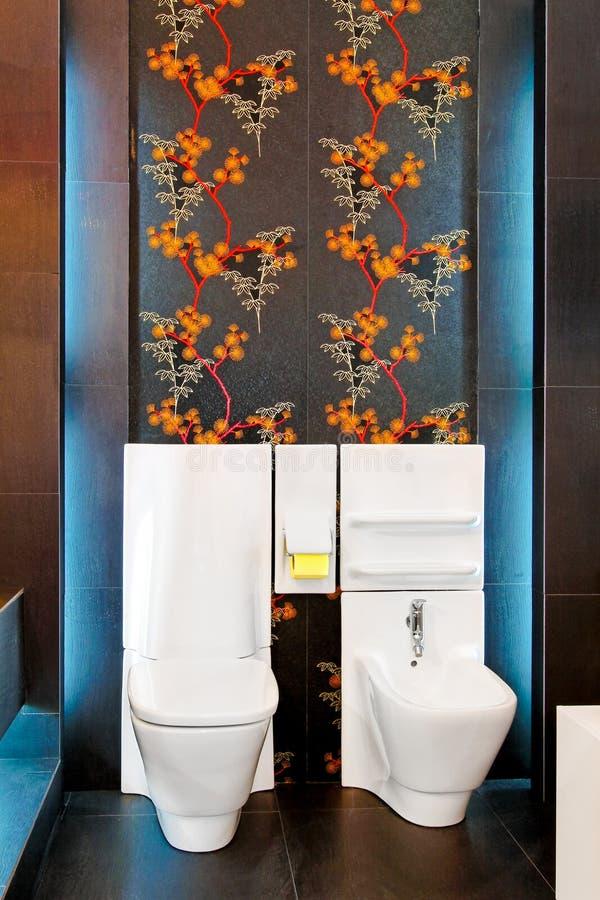WC rougeoyant photo stock