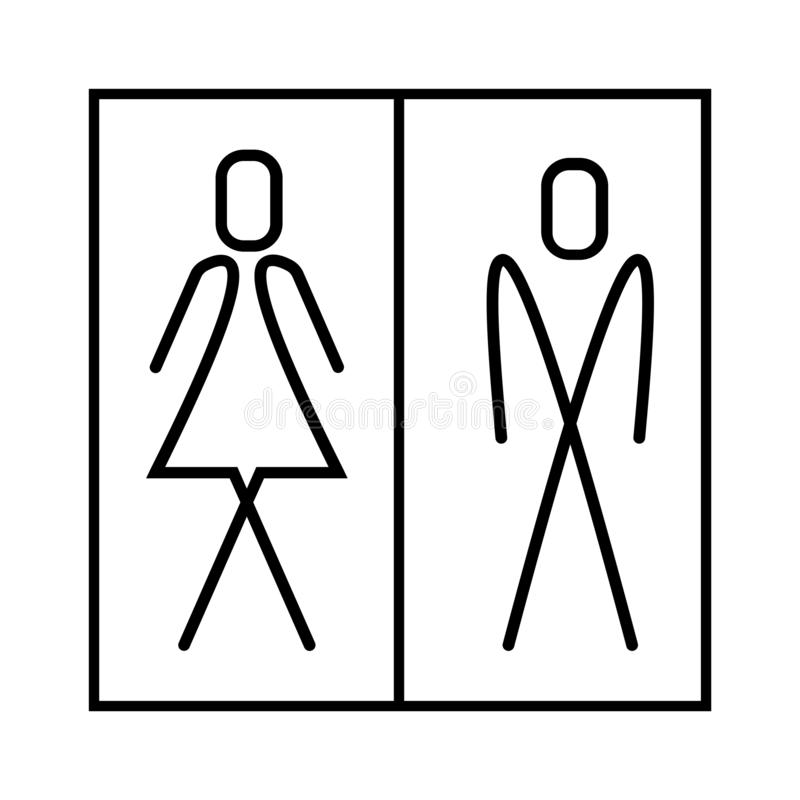 WC sign, man and woman icon - eps ten royalty free illustration