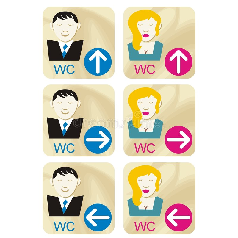 Free WC Signs Stock Image - 1600321