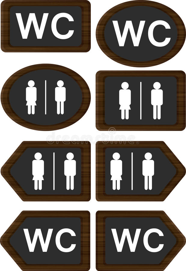 Download WC signs stock illustration. Illustration of rest, icons - 24294652