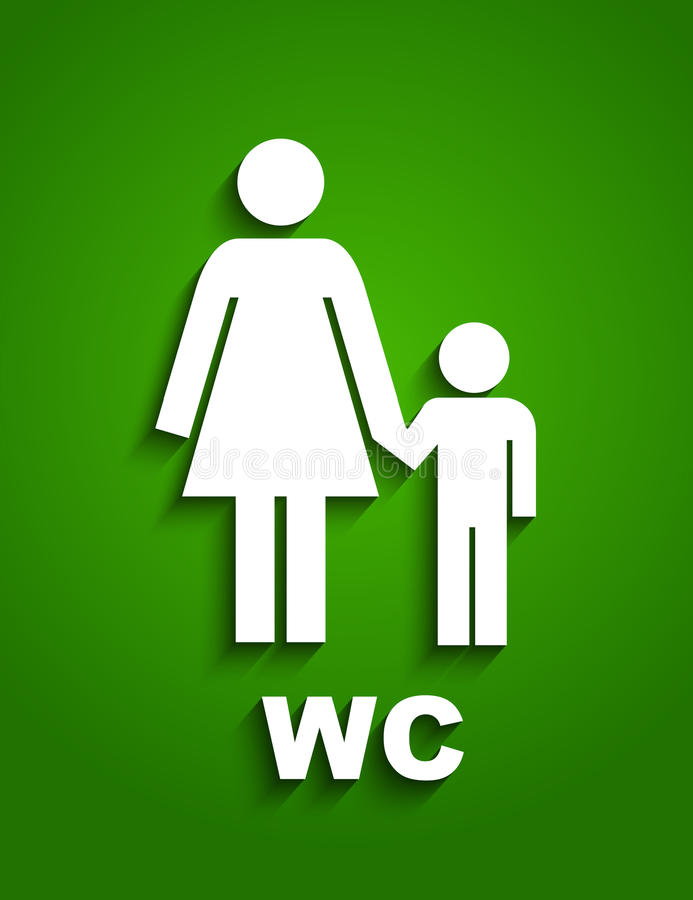 Wc Sing Royalty Free Stock Photo