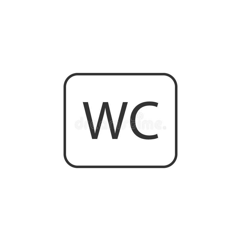 Wc-symbol, toalettsymbol Vektorillustration, l?genhetdesign stock illustrationer
