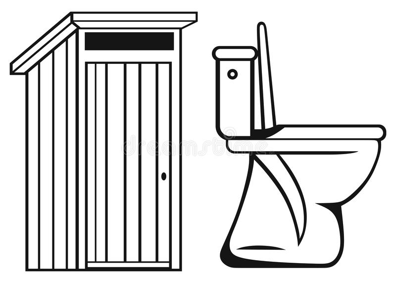 Download WC. Toilet stock vector. Image of outline, bowl, domestic - 31877630