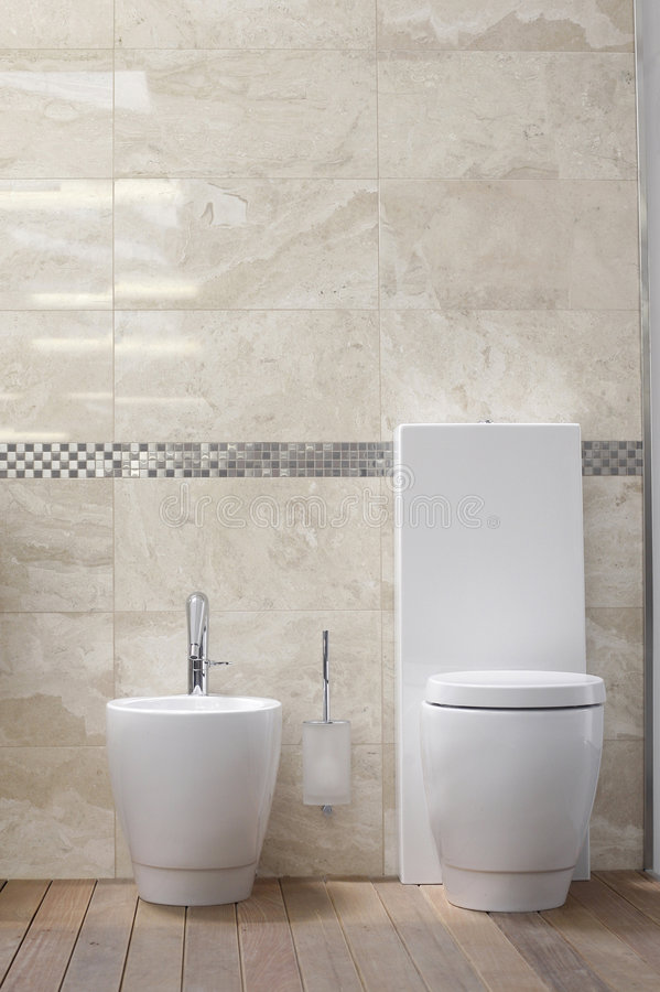 WC van het toilet stock afbeeldingen
