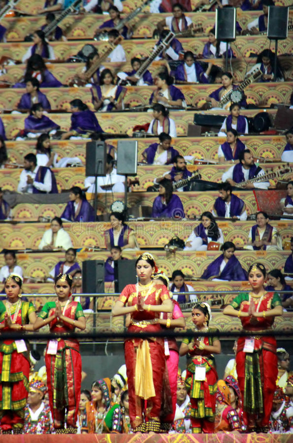 WCF на bharatnatyam танца Дели 11-ое-13 марта 2016 классическом стоковые изображения