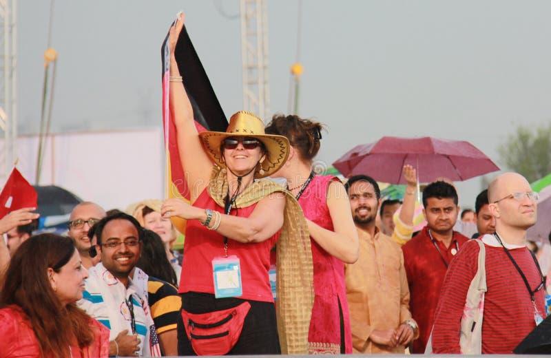 WCF Delhi an den 11. bis 13. März 2016-glücklichen Menschen stockfotografie