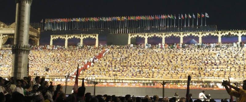 WCF Delhi an der enormen Versammlung der 11. bis 13. März 2016 stockbild