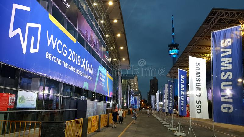 """WCG 2019 des jeux de Cyber du monde de l'événement de jeu olympique de jeu d'eSport le """"à Xi'an, Chine photos libres de droits"""