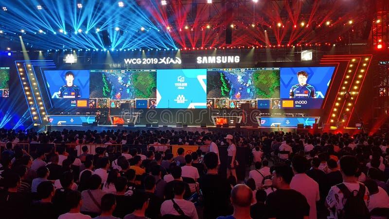 """WCG 2019 des jeux de Cyber du monde de l'événement de jeu olympique de jeu d'eSport le """"à Xi'an, Chine photo stock"""