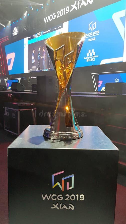 """WCG 2019 des jeux de Cyber du monde de l'événement de jeu olympique de jeu d'eSport le """"à Xi'an, Chine photographie stock"""