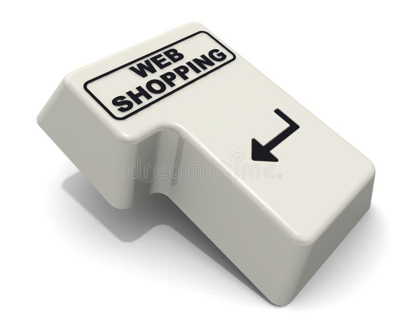 Wchodzić do klucz klawiatura przylepiał etykietkę sieć zakupy ilustracja wektor
