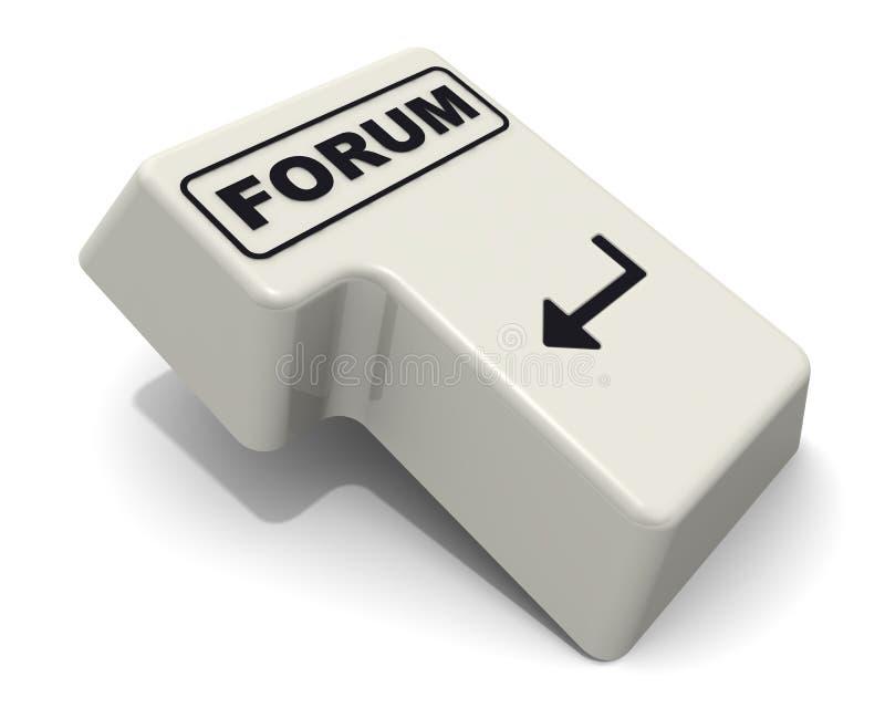 Wchodzić do klucz klawiatura przylepiający etykietkę forum ilustracja wektor