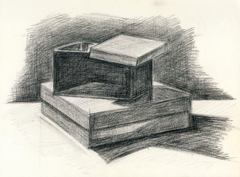 Wciąż żyć pudełka ilustracja wektor