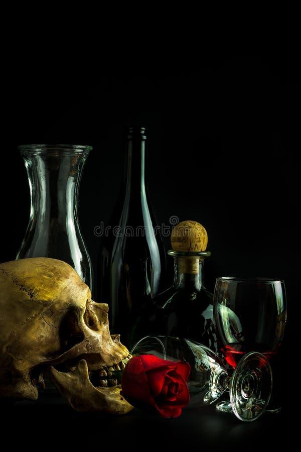 Wciąż życie czaszka obraz stock