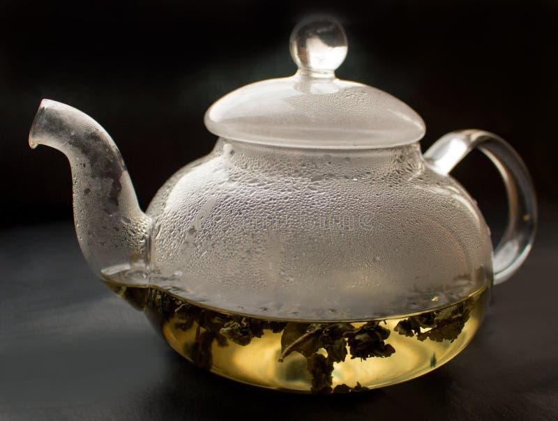Wciąż życie, przejrzysty szklany teapot, obrazy royalty free